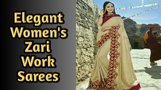 Latest 2019 Hrishita Alluring Zari Work Sarees/online shopping/Women's Trends