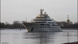 Mega Yacht DILBAR | Weser höhe Brake Unterweser zur Nordsee