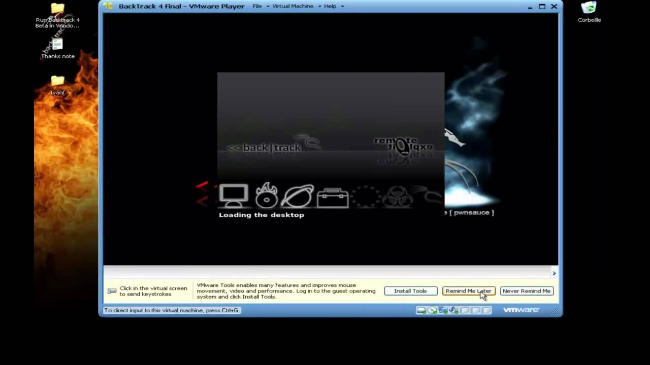 Run BackTrack 4 with VMWare Player (FREE)
