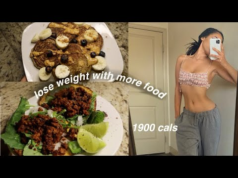 WHAT I EAT IN A DAY TO LOSE WEIGHT *eating More Food*