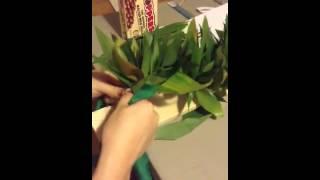 Ti leaf braided lei