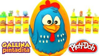 Huevo Sorpresa Gigante de la Gallina Pintadita en Español de Plastilina Play Doh