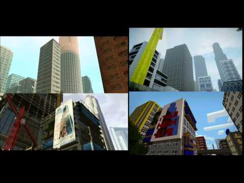 GTA V trailer in GTA san andreas, GTA IV, Minecraft