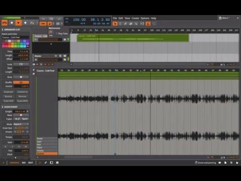 Bitwig Studio Stretch a Full Track (Accurate)