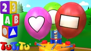 tutitu preschool   learning shapes for babies and toddlers   balloon machine