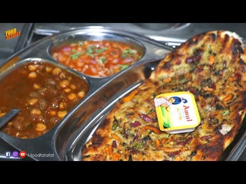 56 Types Of Amritsari Kulcha | Bansal Kulcha Zirakpur | Street Food Chandigarh #foodfatafat