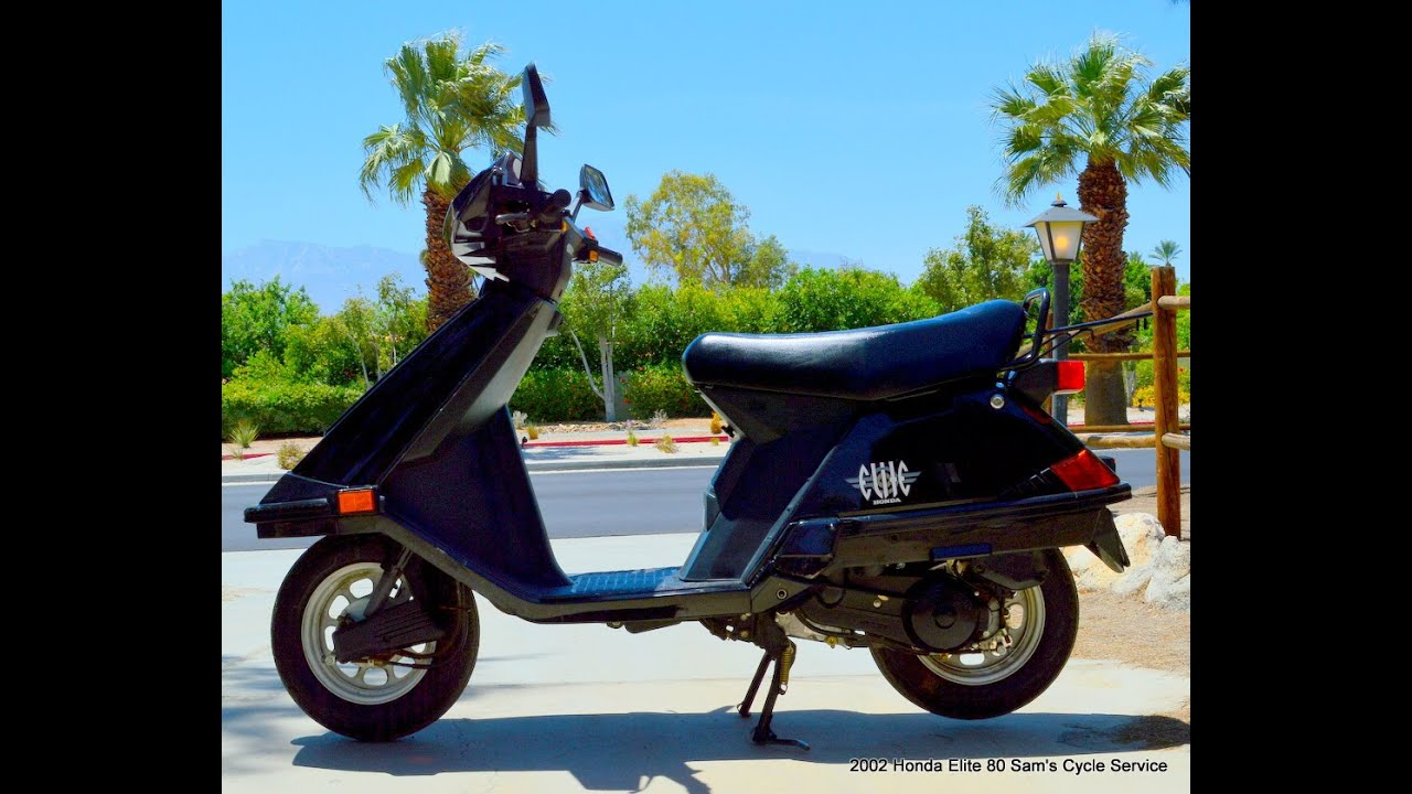 2002 honda elite 80 scooter for sale youtube. Black Bedroom Furniture Sets. Home Design Ideas