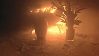 So schnell breitet sich ein Christbaum-Brand aus (360°-Video)