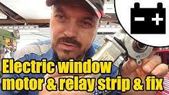 Electric window motor bench test, strip & fix #1423