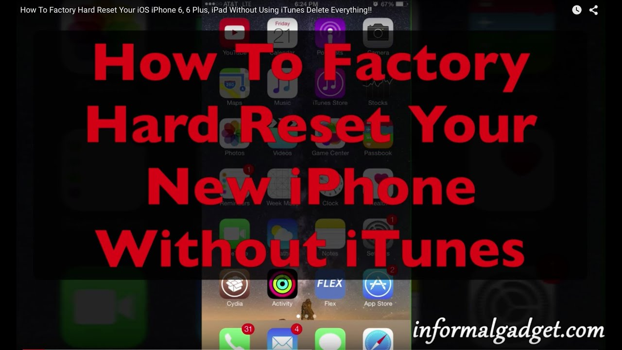 how to do hard reset on iphone how to erase iphone 6 plus without using itunes factory 9426