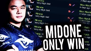 MIDONE Spamming 10 Games Mirana in 1 day with New Build 10k MMR Dota 2