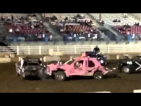 Outlaw demo derby Garden City Kansas May 7th 2016