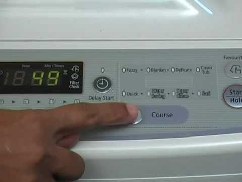 Samsung Smgwa82v4g Washing Machine Training Youtube