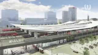 Hauptbahnhof - wichtiger Verkehrsknotenpunkt in der EU