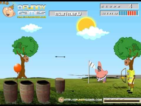 Игра Губка Боб стреляет в Зомби онлайн Spongebob Shoot