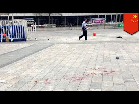 China attack: Six injured in knife attack at Guangzhou train station