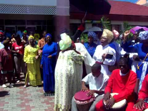 Spiritual Baptist in Grenada, open air