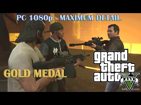GTA 5 - The Third Way (100% Gold Medal) - PC [1080p] Max Settings