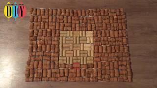 як зробити килимок з пробок