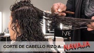 CORTE DE CABELLO RIZO A NAVAJA
