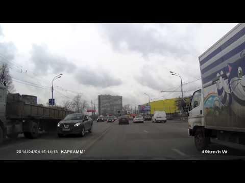 Пример съемки видеорегистратора Каркам М1 (день)