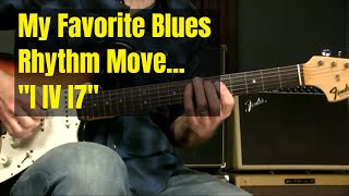 Blues Rhythm Guitar Lesson   The I IV I7 move