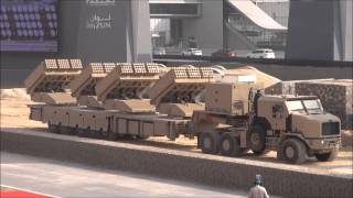 new Jobaria Defense System MCL Multiple Cradle 107/122mm Rocket Launcher at IDEX 2013