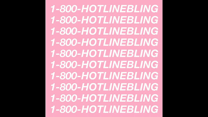 drake  hotline bling super clean