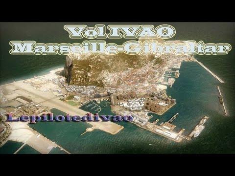 Vol IVAO Marseille-Gibraltar 737-800