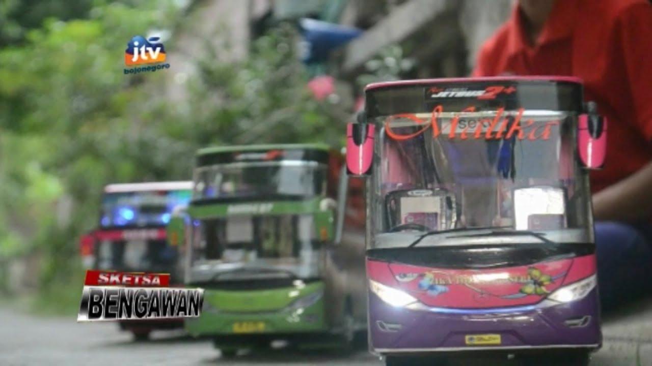 Pengrajin Miniatur Bus Beromset Jutaan Rupiah Sketsa Bengawan