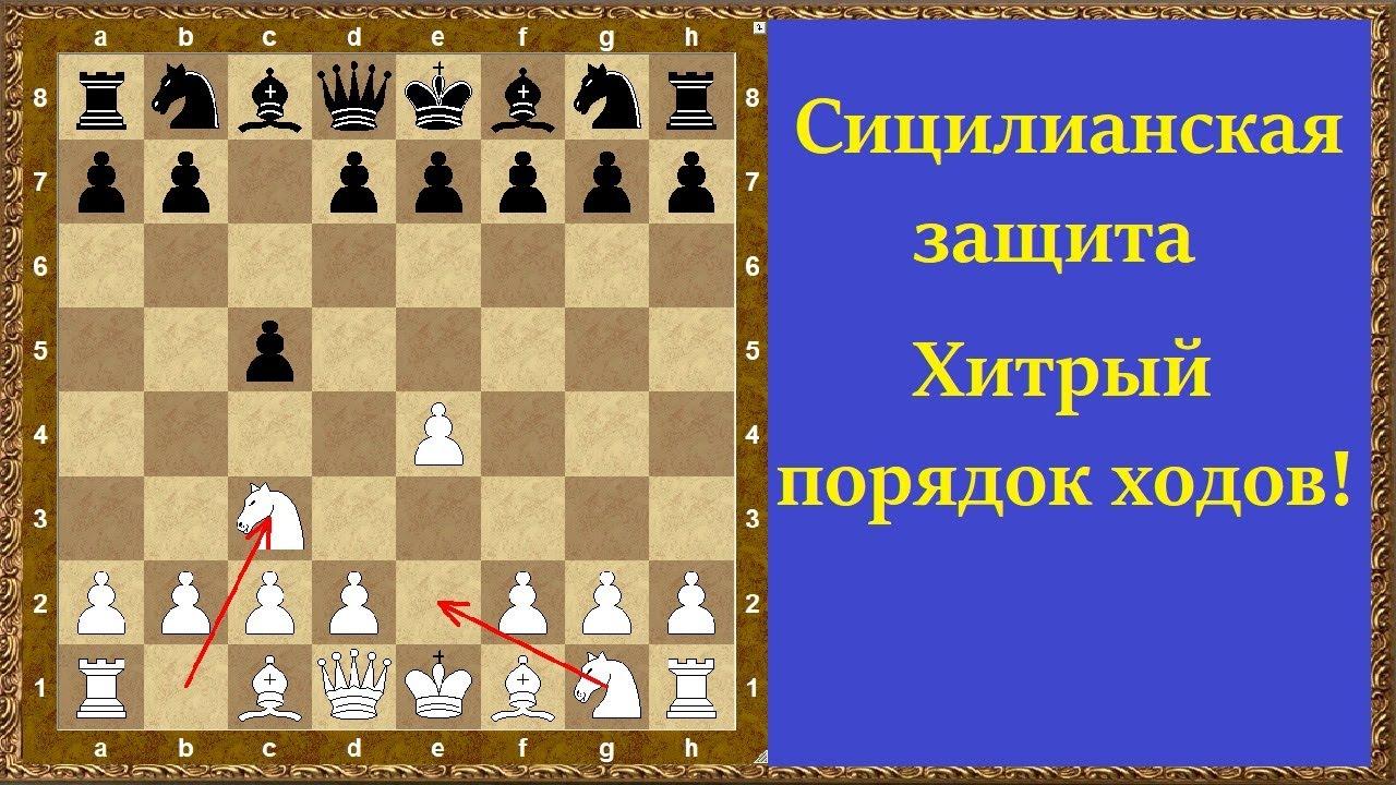 Шахматы дебюты. Сицилианская защита. Хитрый порядок ходов!