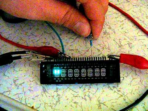 Vacuum Fluorescent Alphanumeric Display Test Circuit  YouTube