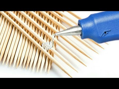 5 DIY Increibles Manualidades con Palillos para Decorar - YouTube