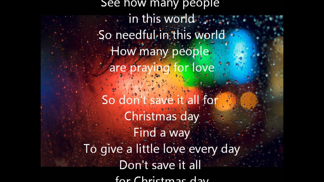 Jody McBrayer - Don't Save It All For Christmas Day (with lyrics) - YouTube
