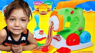 Zack Making Food out of Play Doh! Toys for Kids Color Green Red Brown Yellow
