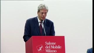 Gentiloni interviene al Salone del Mobile (17/04/2018)