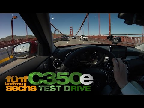 Mercedes C350e vs. Evo II on the Streets of San Francisco (German)