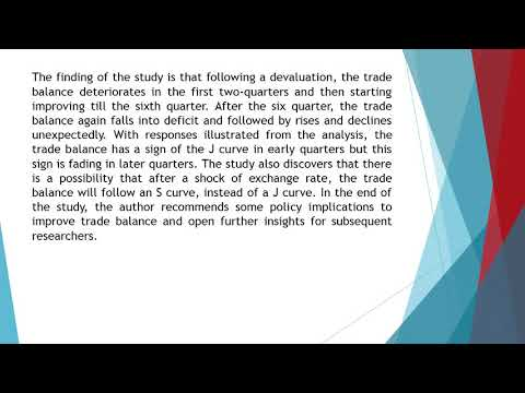 Exchange Rate, Trade Balance, and the J Curve Effect in Vietnam  AEFR 79 858 868