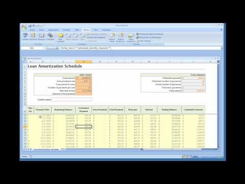 Loan Amortization Calculator (Installed Excel Template)