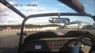 caterham r500 and radical on trackday