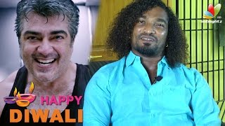 Ajith sir is actually a monster - Stunt Silva | Vedhalam Special Interview