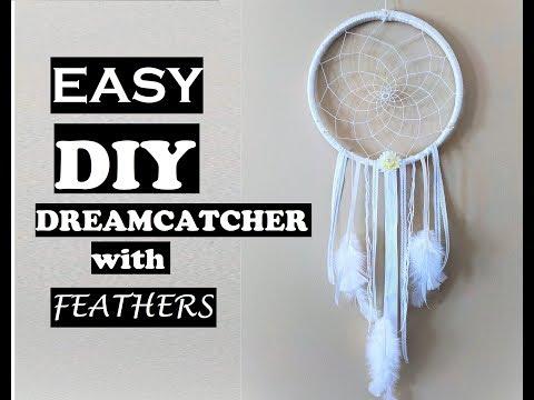 DIY EASY DREAMCATCHER - How To Make A Dream Catcher Tutorial