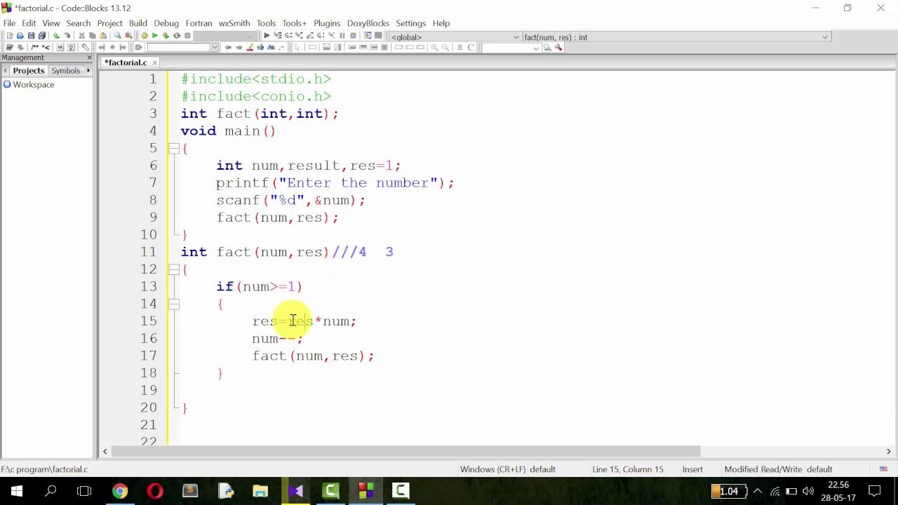 Recursive Function In Factorial Bangla C Programming Tutorial 7