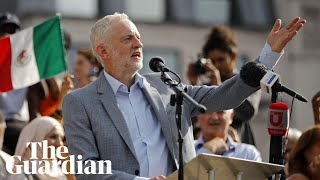 corbyn speaks at trump protest were united in hope