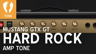 HARD ROCK Tone for Fender Mustang GTX GT Amps (ACDC, Alex Lifeson, Jimmy Page, Led Zeppelin style)