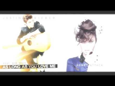 Justin Bieber ft Demi Lovato - As Long As You Love, Me Heart Attack Mashup