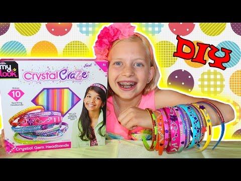 DIY Jewel Headbands with Alyssa Cra-Z-Art Shimmer 'n Sparkle Crystal Craze Gem Headbands
