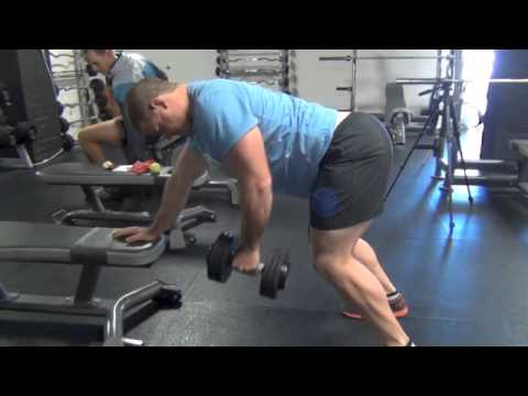 One Arm DB Bent Over Row with Retraction - YouTube  One Arm DB Bent...