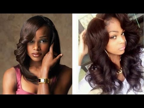Sew In Weave Hairstyles Natural Long Short Black Hair Styles For