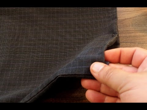 c7d8cab8 How To Hem Your Pants In a Pinch - Style Hack - YouTube